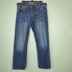 American Eagle Relaxed Straight Jeans Size 33x30